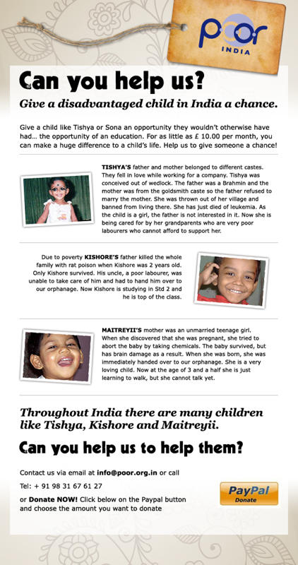 Child sponsorship in india